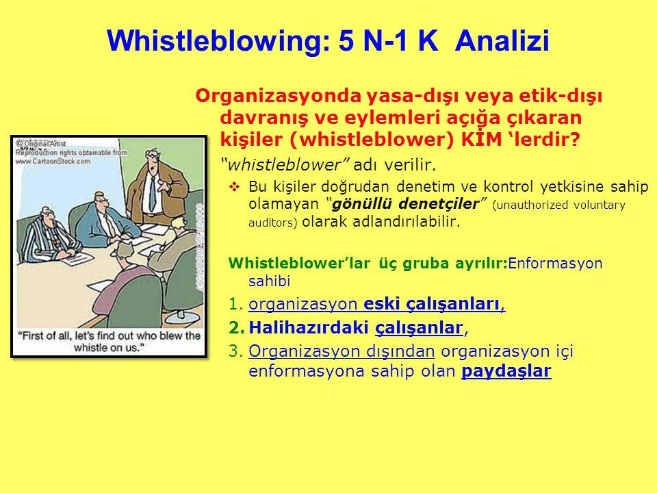 Whistleblowing: 5 N-1 K Analizi