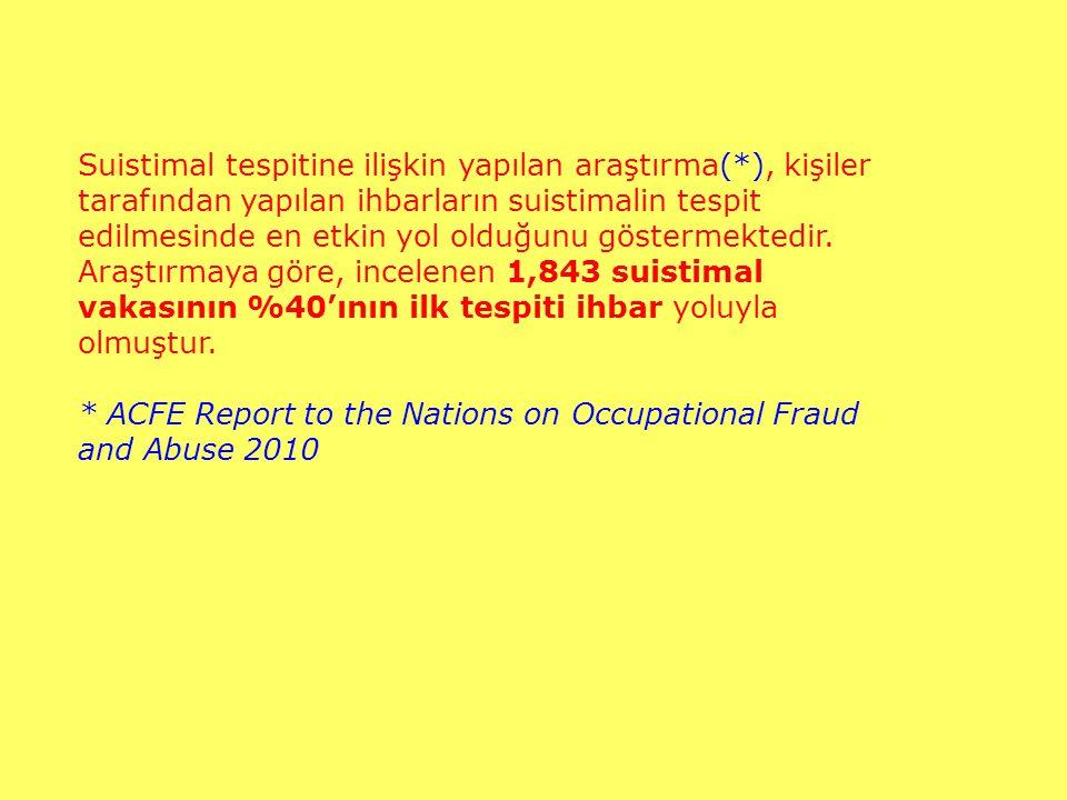Suistimal tespitine ilişkin yapılan araştırma(