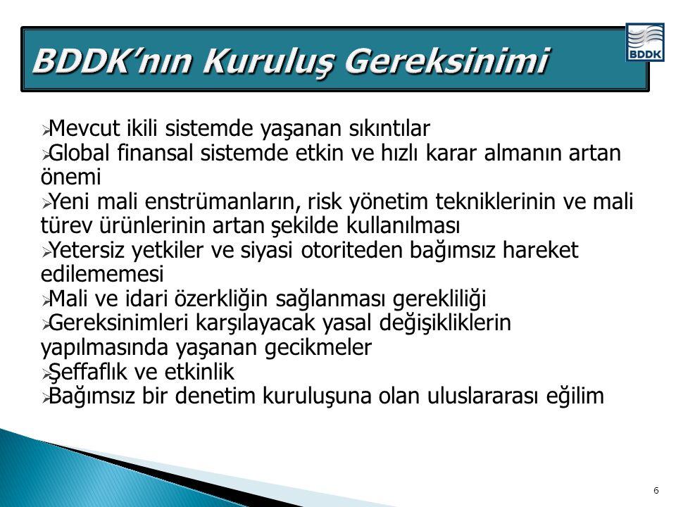 BDDK'nın Kuruluş Gereksinimi