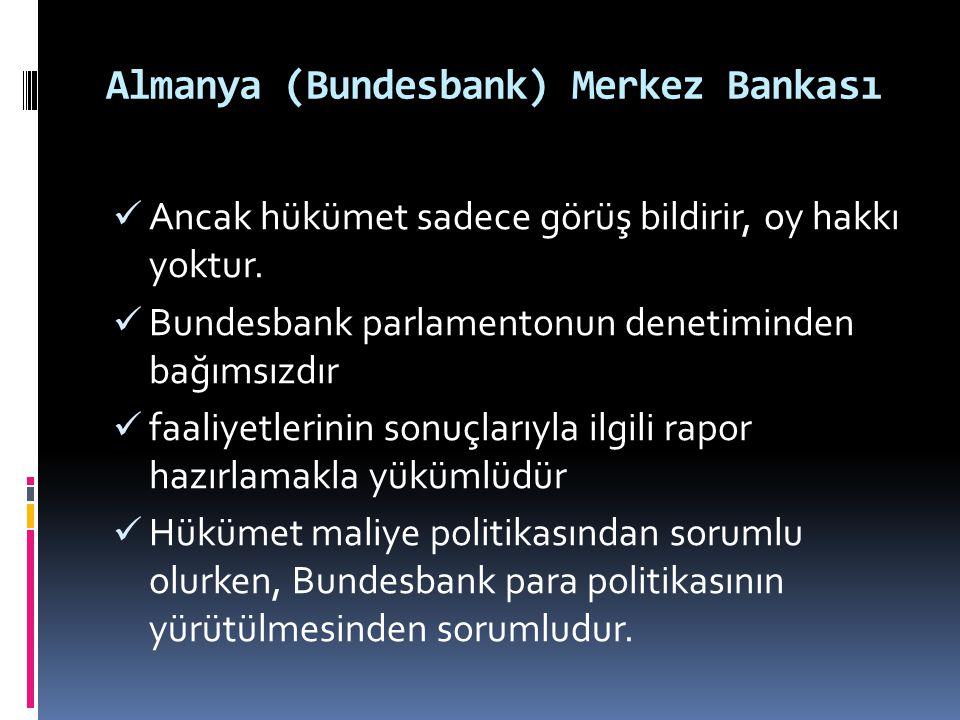 Almanya (Bundesbank) Merkez Bankası