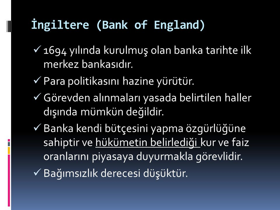 İngiltere (Bank of England)