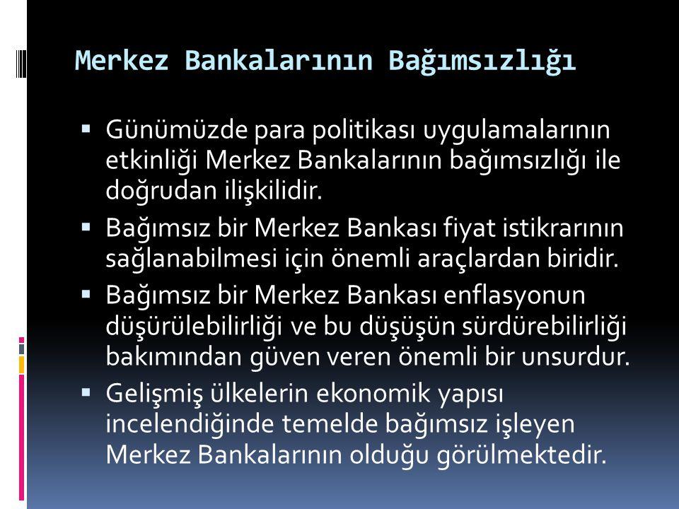 Merkez Bankalarının Bağımsızlığı