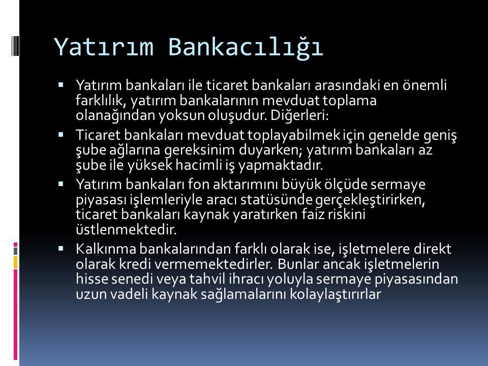 Yatırım Bankacılığı