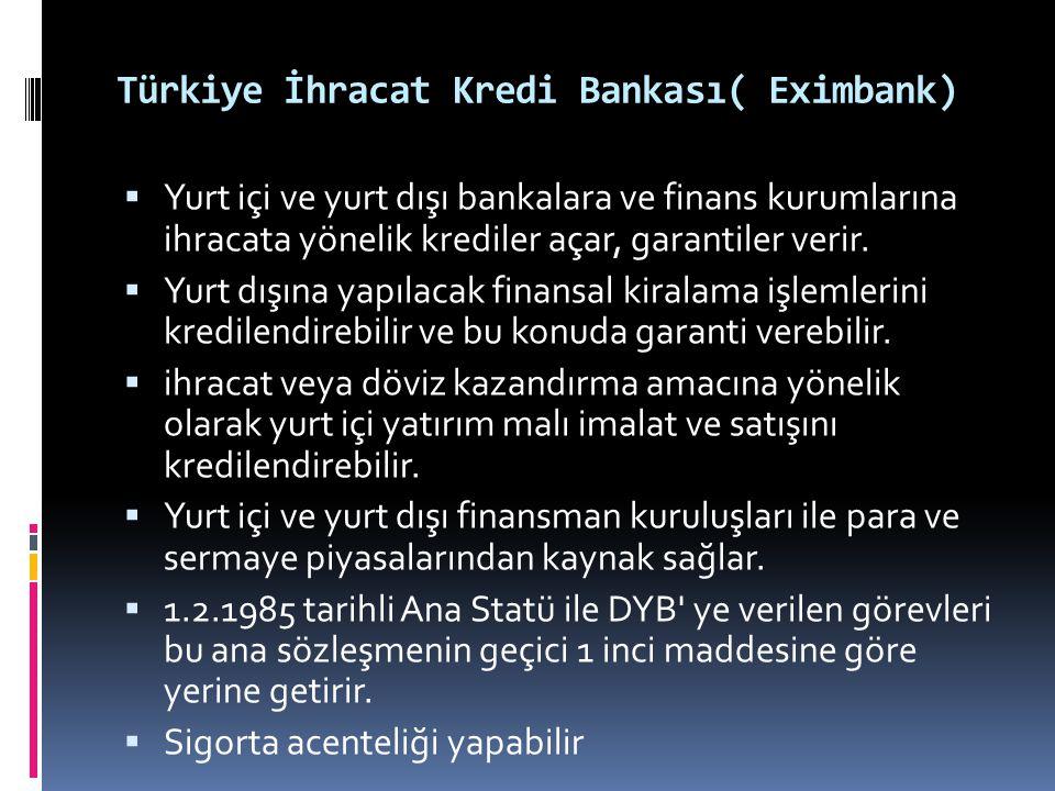 Türkiye İhracat Kredi Bankası( Eximbank)