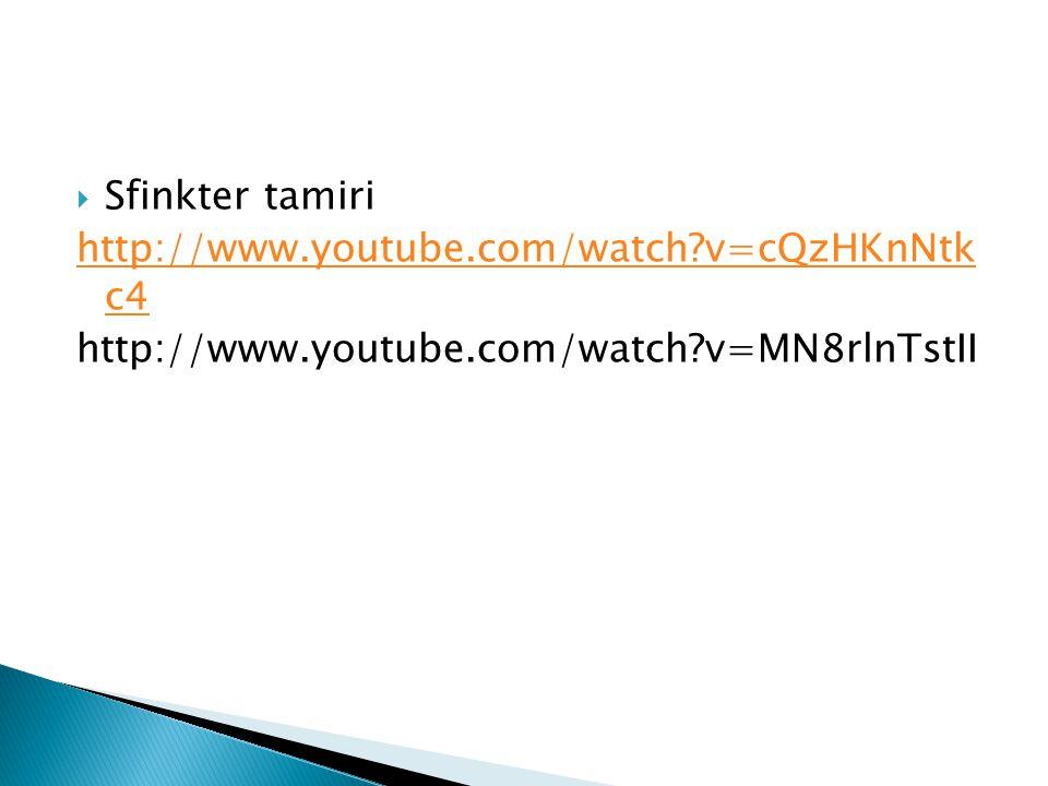 Sfinkter tamiri http://www.youtube.com/watch v=cQzHKnNtk c4.