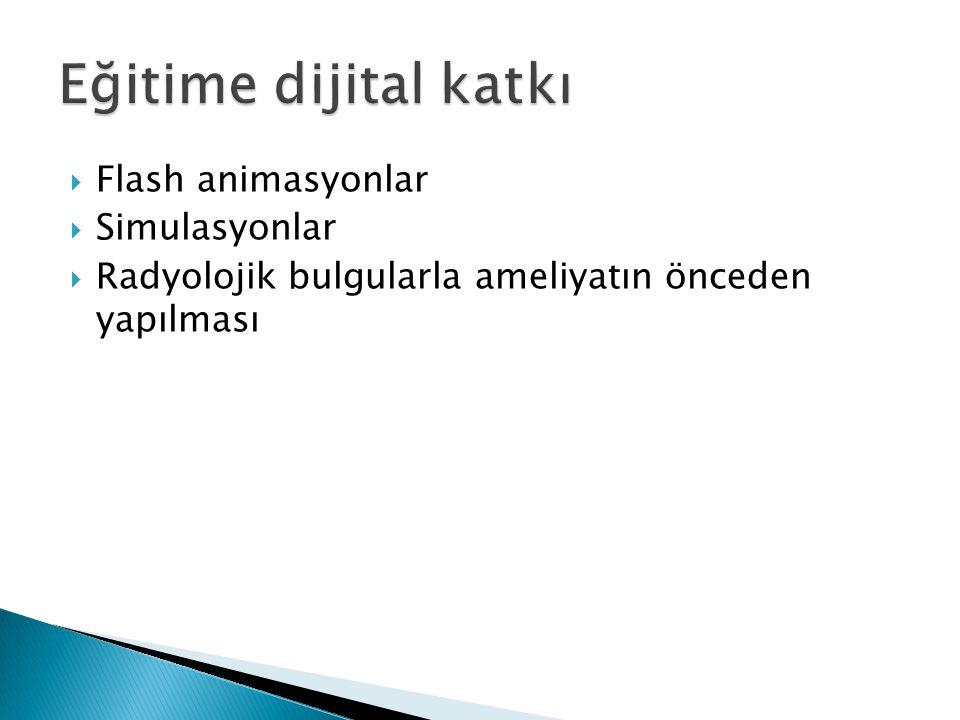 Eğitime dijital katkı Flash animasyonlar Simulasyonlar