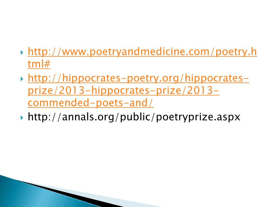 http://www.poetryandmedicine.com/poetry.h tml#