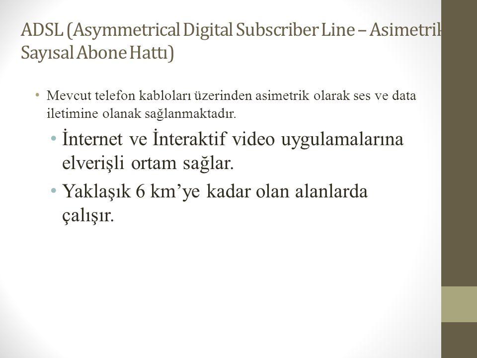 İnternet ve İnteraktif video uygulamalarına elverişli ortam sağlar.