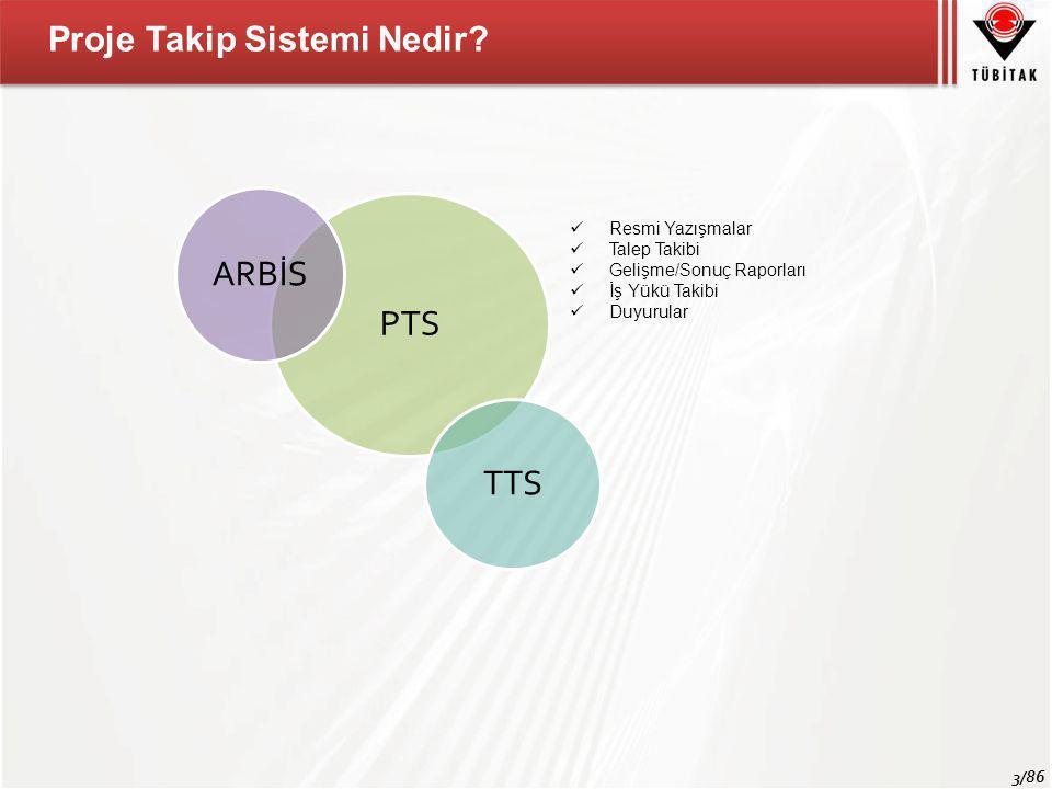 ARBİS PTS TTS Proje Takip Sistemi Nedir Resmi Yazışmalar Talep Takibi