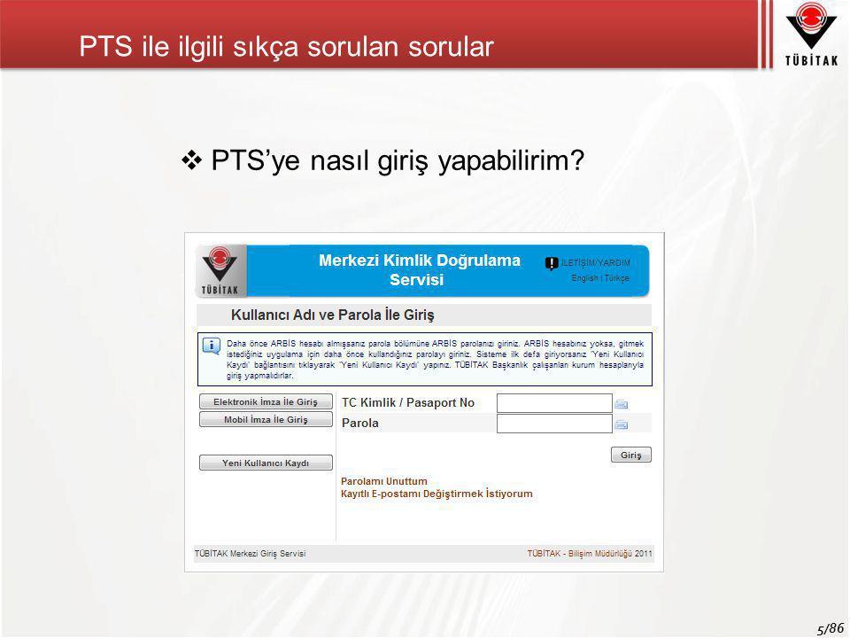 PTS ile ilgili sıkça sorulan sorular