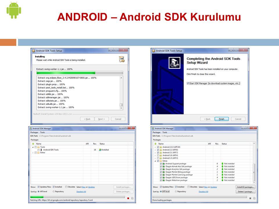 ANDROID – Android SDK Kurulumu