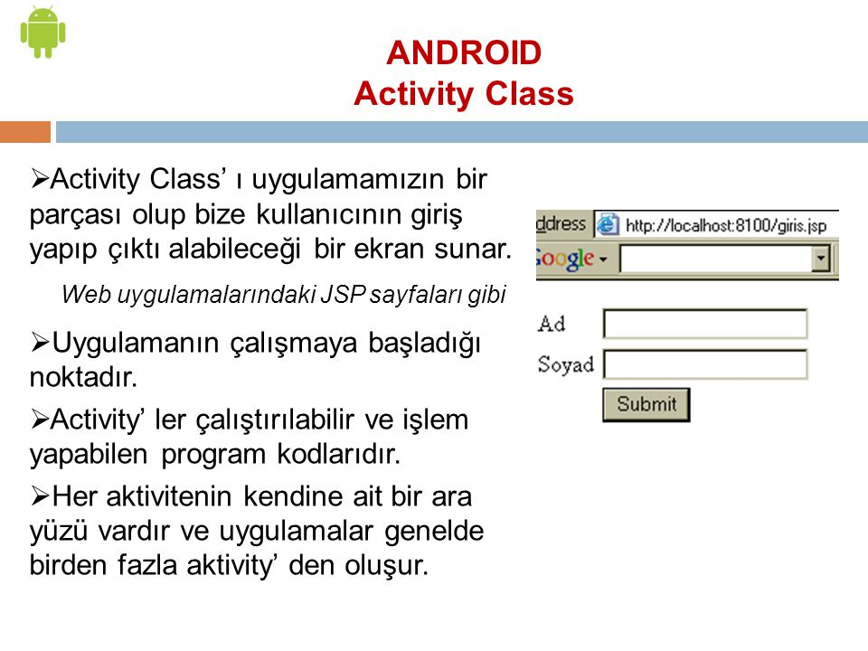 ANDROID Activity Class