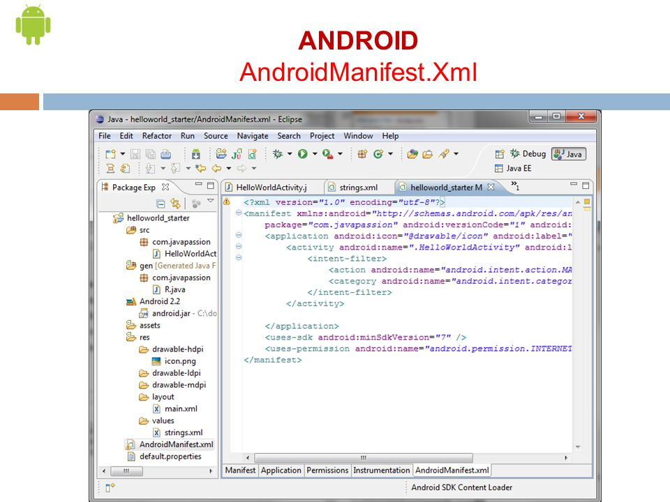 ANDROID AndroidManifest.Xml