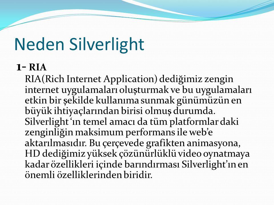 Neden Silverlight