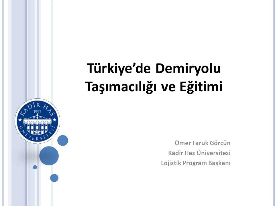 Türkiye'de Demiryolu Taşımacılığı ve Eğitimi
