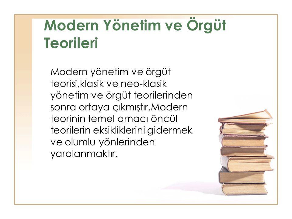 Modern Yönetim ve Örgüt Teorileri