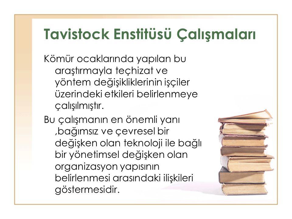 Tavistock Enstitüsü Çalışmaları