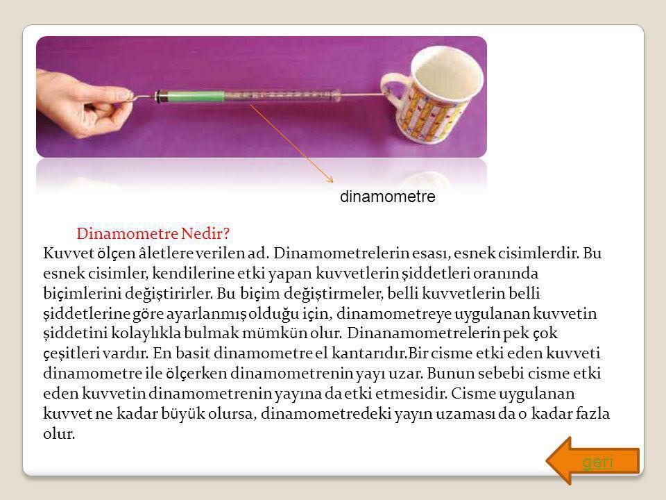dinamometre Dinamometre Nedir