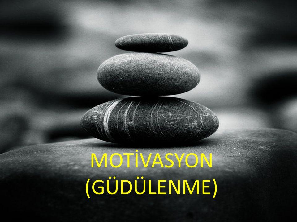 MOTİVASYON MOTİVASYON (GÜDÜLENME)