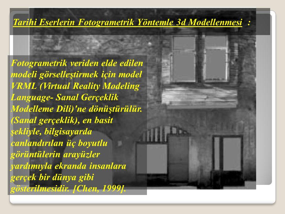 Tarihi Eserlerin Fotogrametrik Yöntemle 3d Modellenmesi :