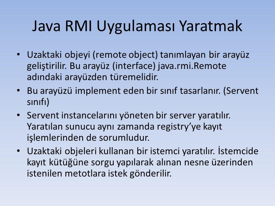 Java RMI Uygulaması Yaratmak