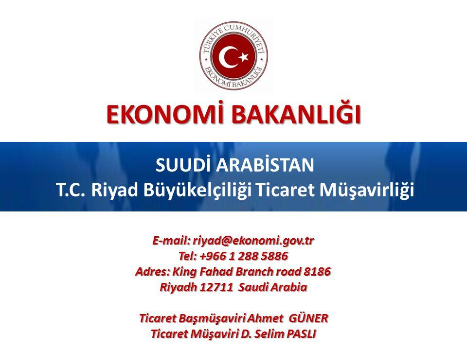 SUUDİ ARABİSTAN T.C. Riyad Büyükelçiliği Ticaret Müşavirliği