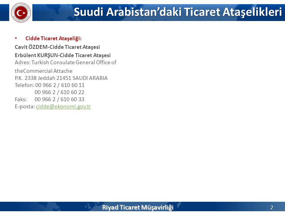 Suudi Arabistan'daki Ticaret Ataşelikleri