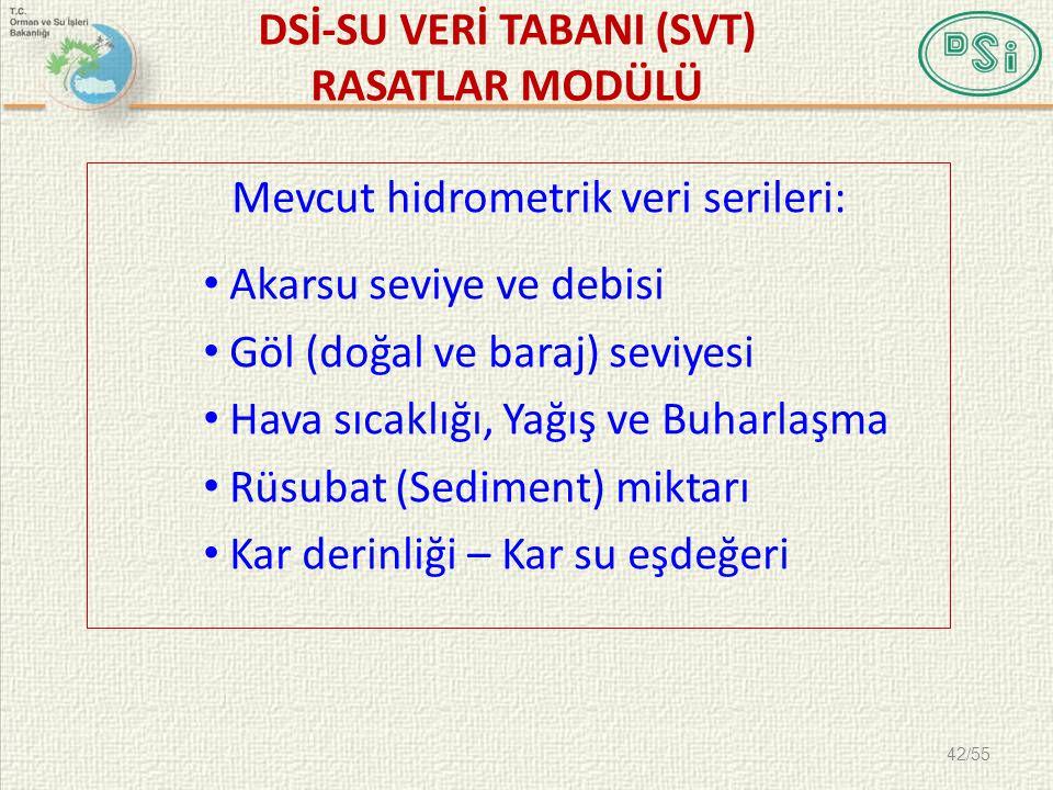 DSİ-SU VERİ TABANI (SVT) RASATLAR MODÜLÜ