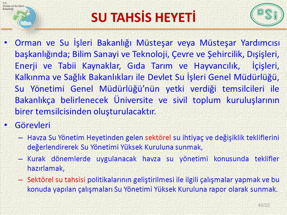 SU TAHSİS HEYETİ