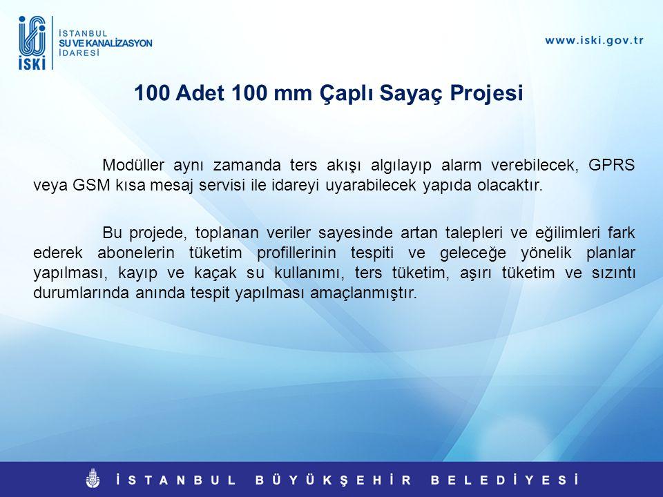 100 Adet 100 mm Çaplı Sayaç Projesi