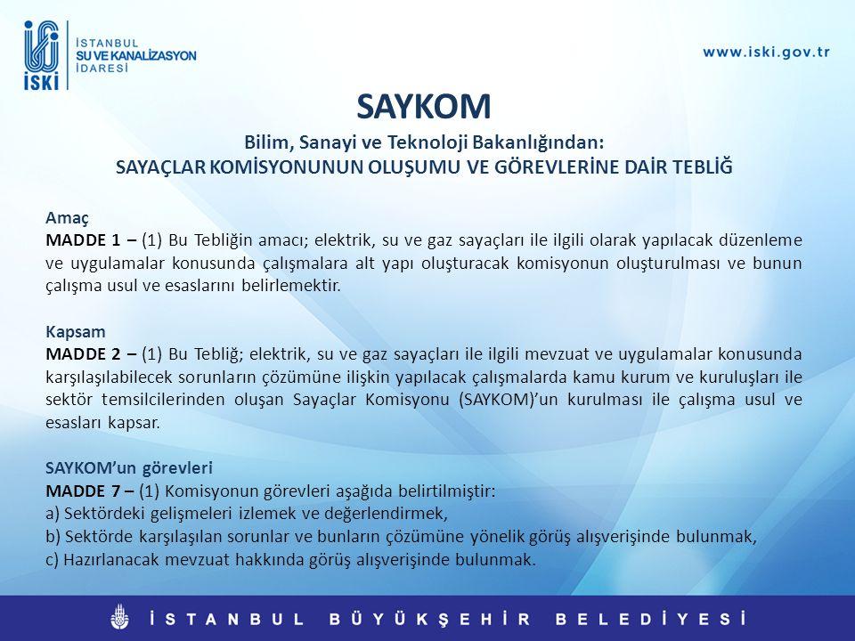 SAYKOM Bilim, Sanayi ve Teknoloji Bakanlığından: