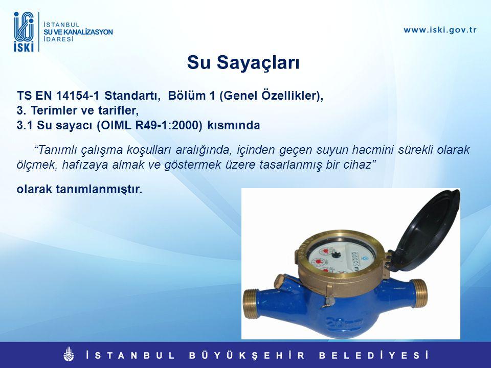 Su Sayaçları TS EN 14154-1 Standartı, Bölüm 1 (Genel Özellikler),