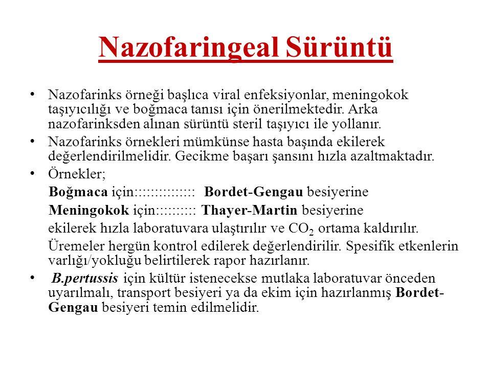Nazofaringeal Sürüntü