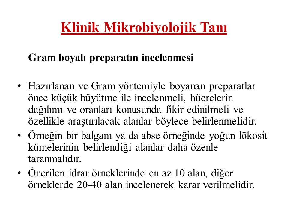 Klinik Mikrobiyolojik Tanı