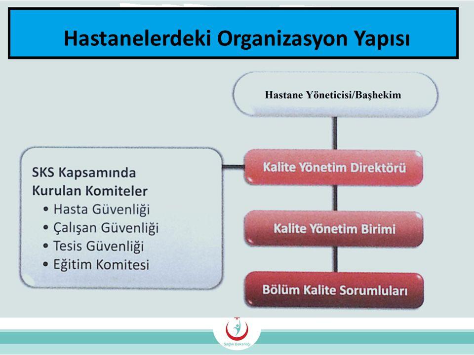 Hastanelerdeki Organizasyon Yapısı