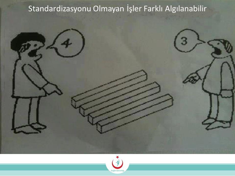 Standardizasyonu Olmayan İşler Farklı Algılanabilir