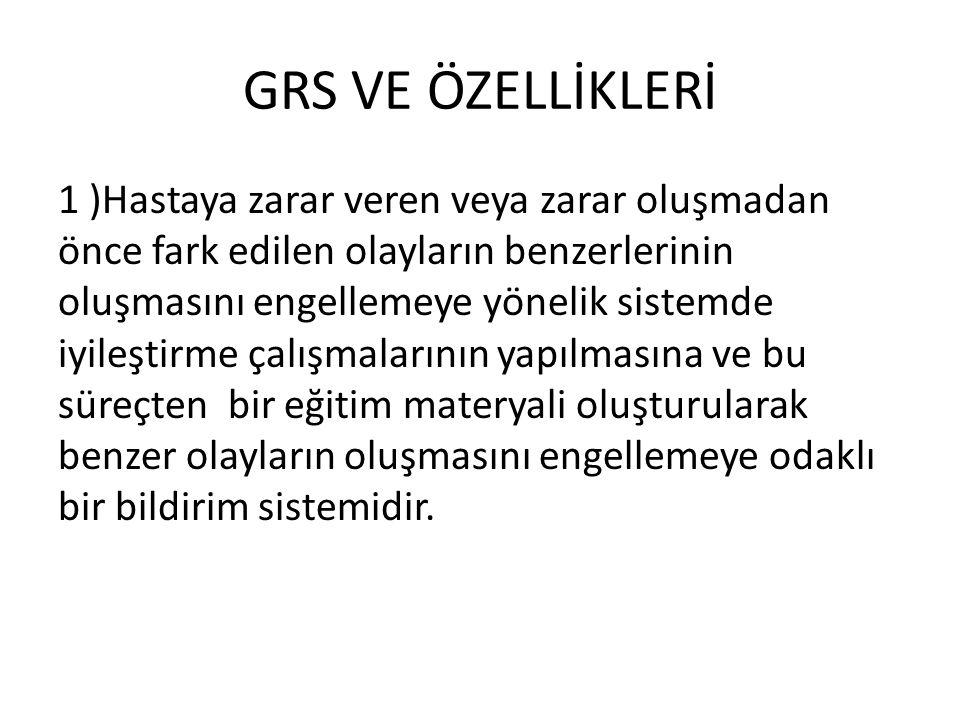 GRS VE ÖZELLİKLERİ