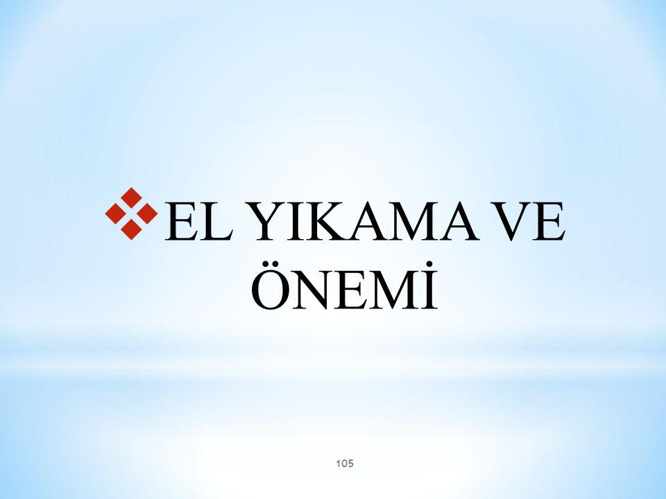 EL YIKAMA VE ÖNEMİ