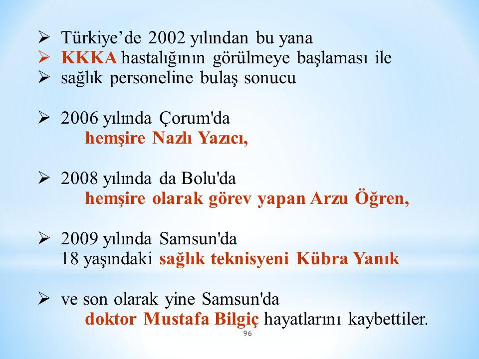 Türkiye'de 2002 yılından bu yana