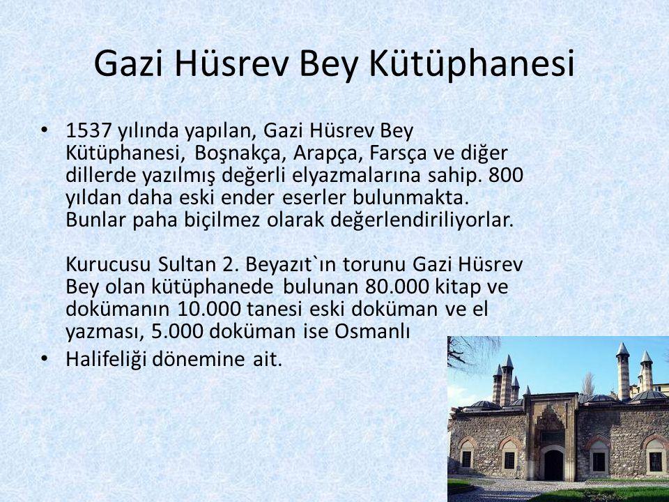 Gazi Hüsrev Bey Kütüphanesi