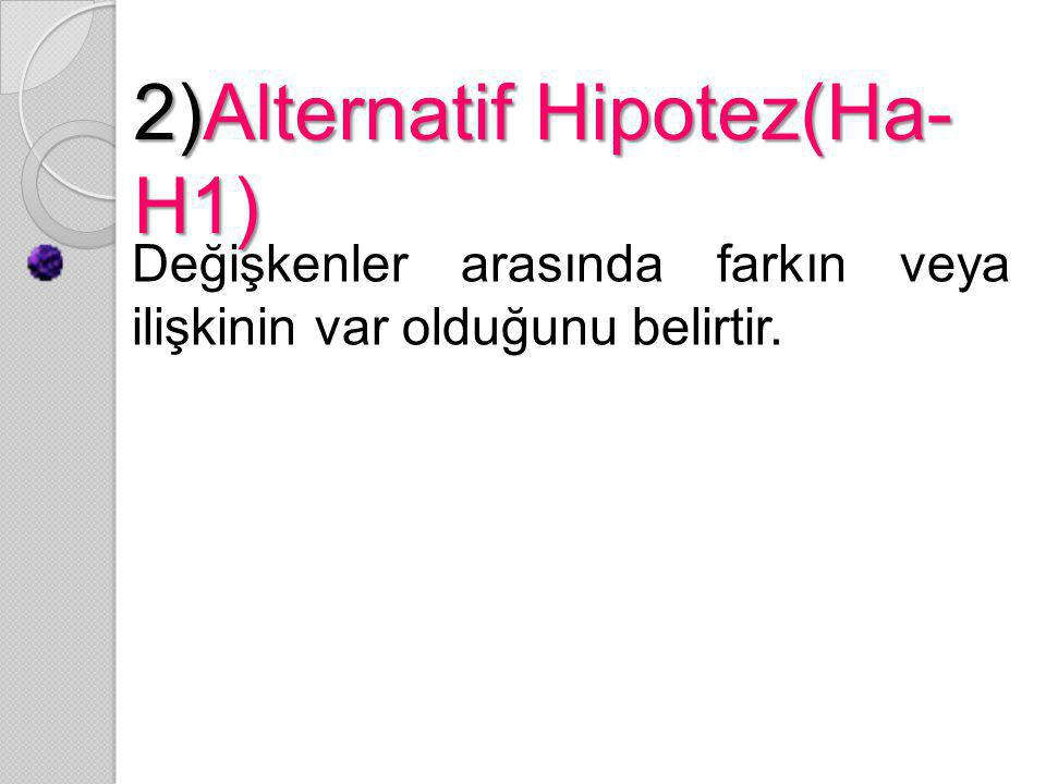 2)Alternatif Hipotez(Ha-H1)