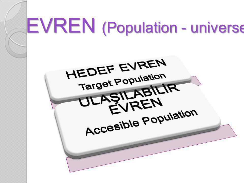EVREN (Population - universe)