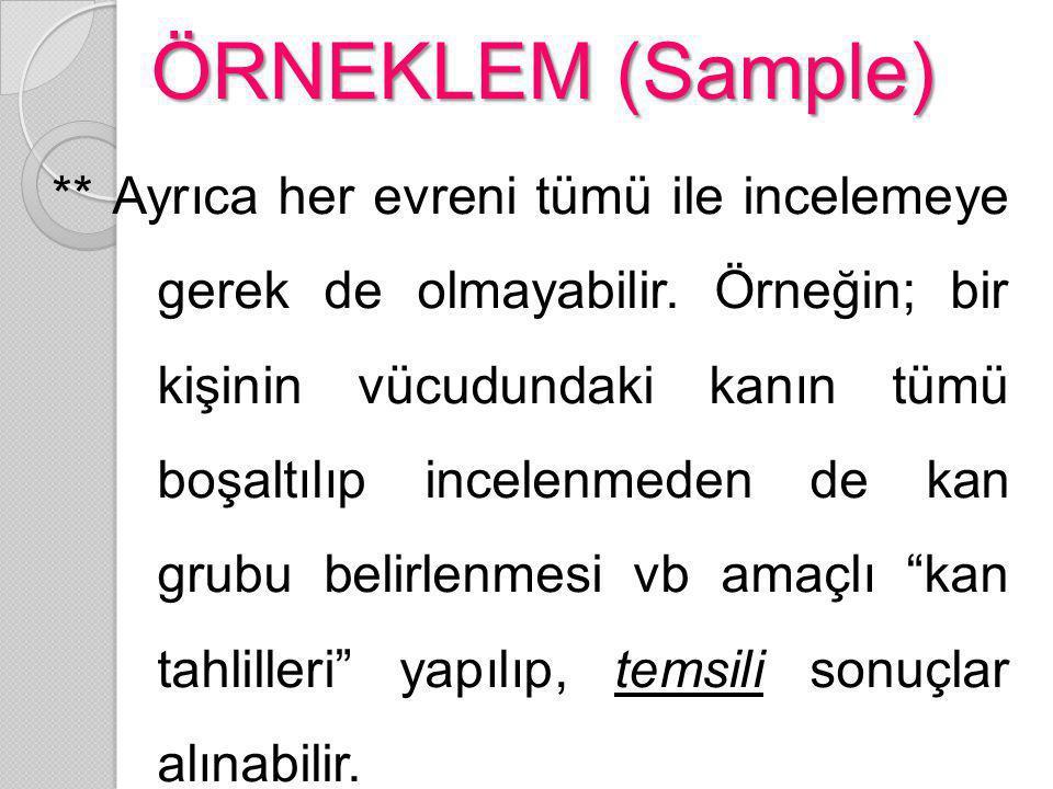 ÖRNEKLEM (Sample)