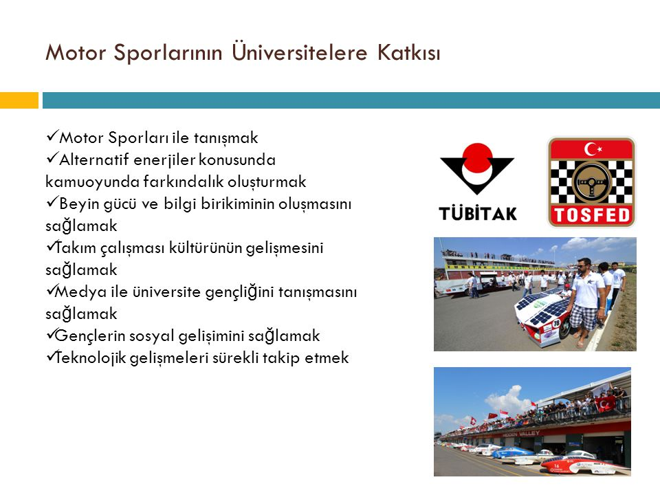 Motor Sporlarının Üniversitelere Katkısı