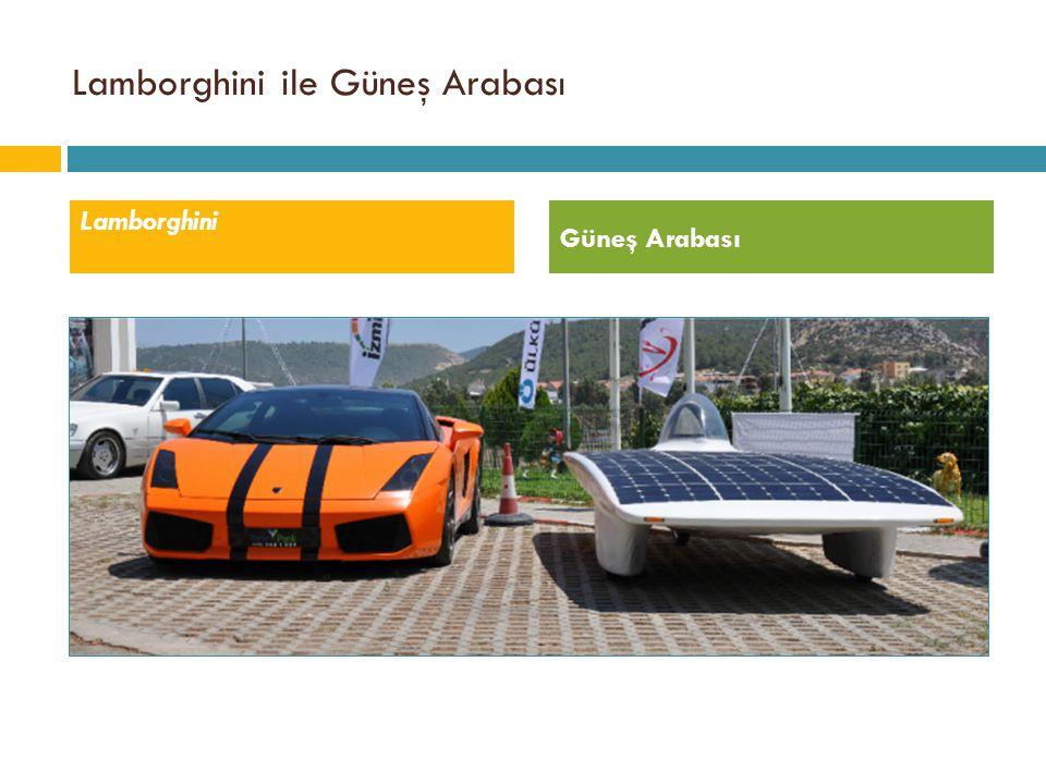 Lamborghini ile Güneş Arabası