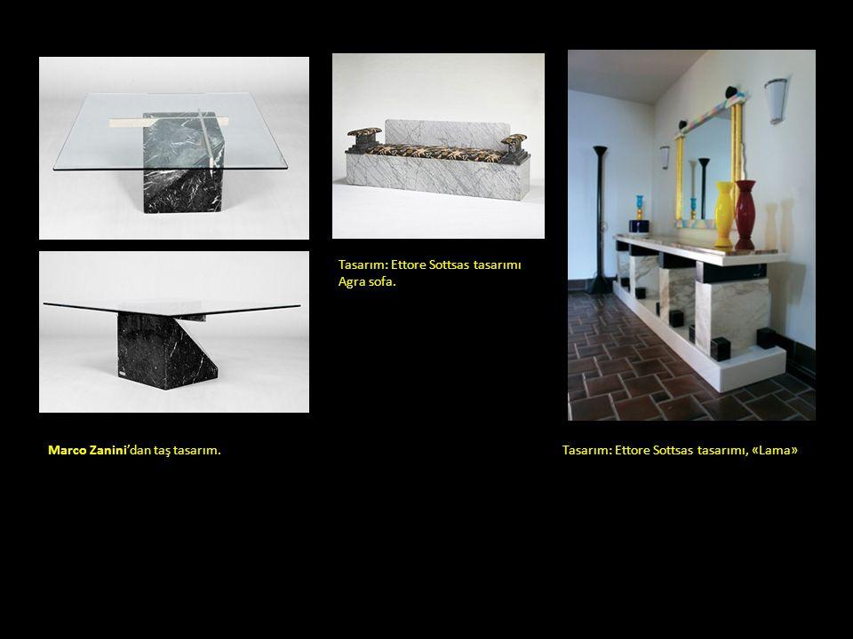Tasarım: Ettore Sottsas tasarımı Agra sofa.