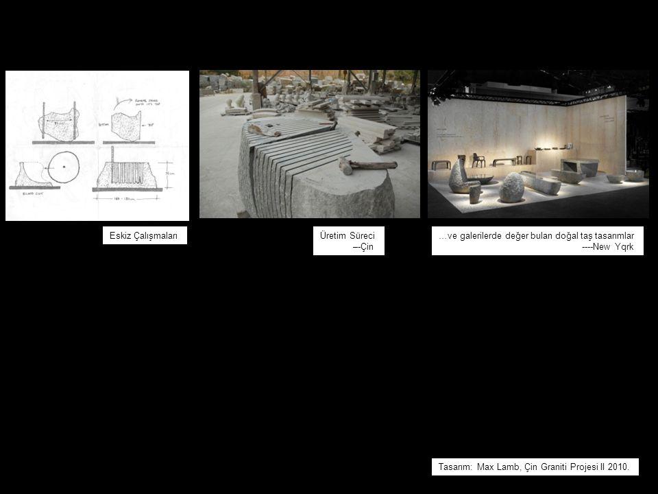Eskiz Çalışmaları Üretim Süreci. –-Çin. …ve galerilerde değer bulan doğal taş tasarımlar. ----New Yqrk.