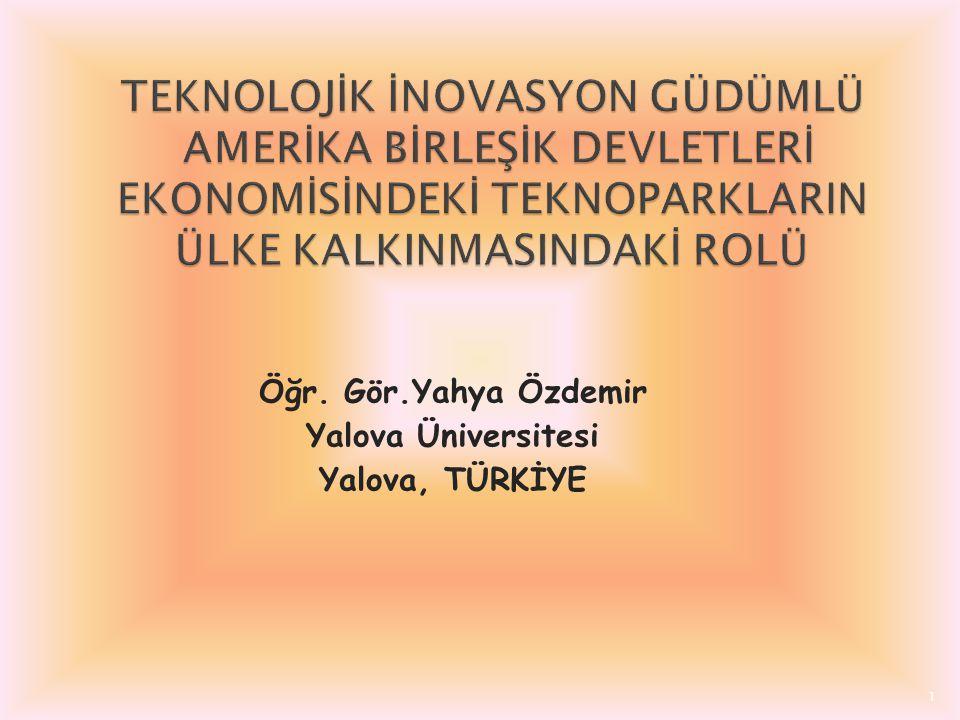 Öğr. Gör.Yahya Özdemir Yalova Üniversitesi Yalova, TÜRKİYE