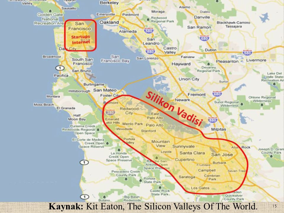 Kaynak: Kit Eaton, The Silicon Valleys Of The World.