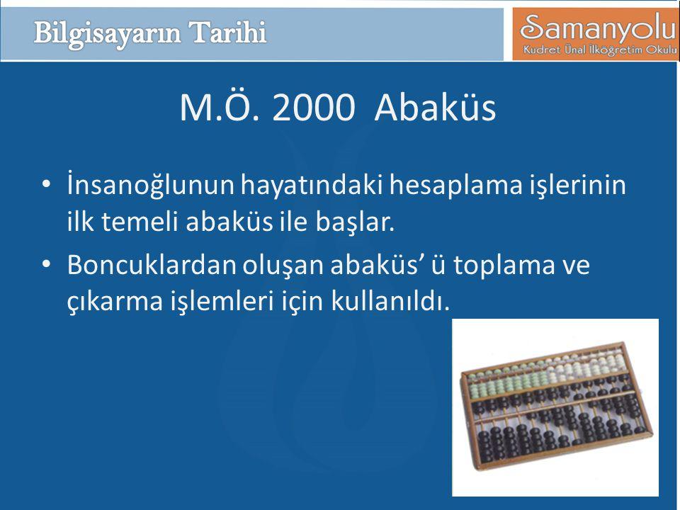 M.Ö. 2000 Abaküs Bilgisayarın Tarihi